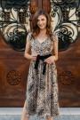 Sukienka z wzorem panterki BELLEZA1