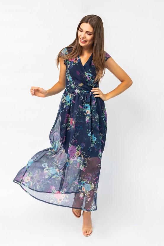 Sukienka w kwiaty DENEBA1