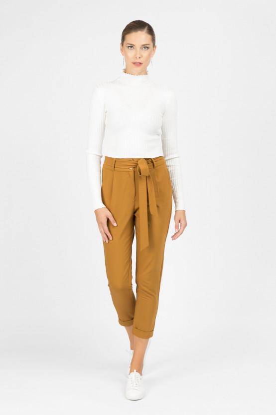 Spodnie z wiązanym paskiem MILO