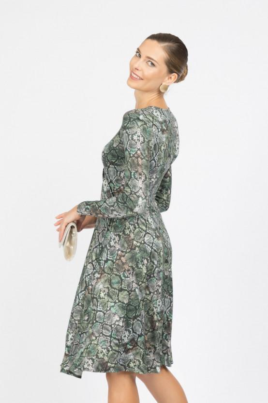Sukienka z wężowym wzorem NIRVANA