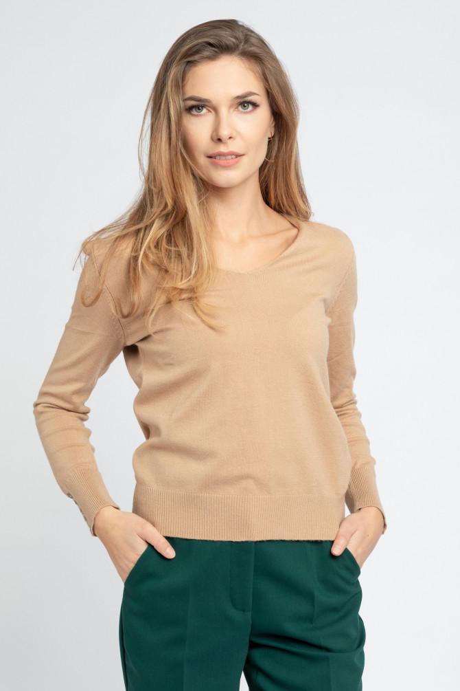 Sweter z guzikami na rękawach KENDY