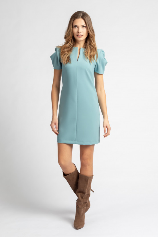 Niebieska Sukienka ALBERTINA