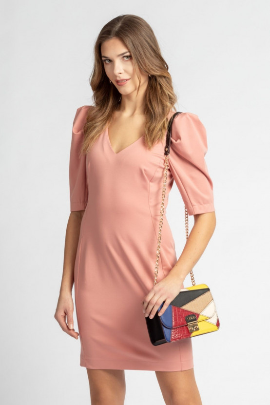 Sukienka z bufiastymi rękawami IRIS