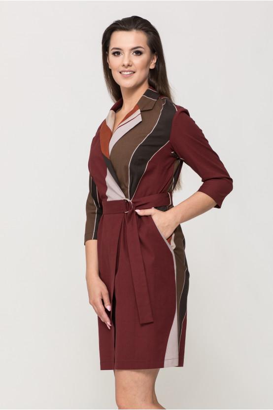 Wzorzysta sukienka ALUNA