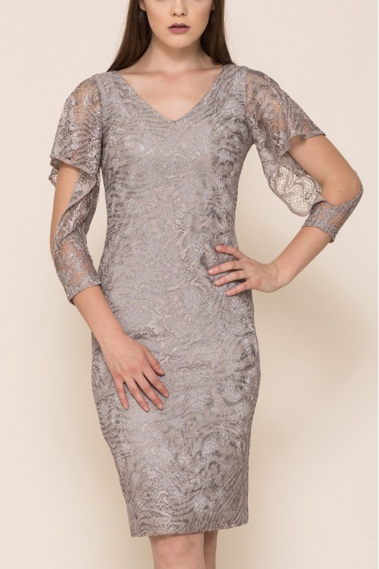 Sukienka z ozdobnym rękawem FLAYA